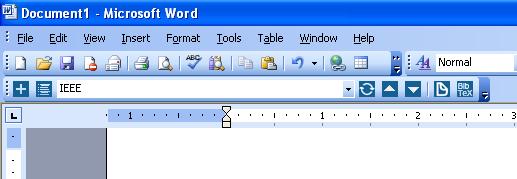 Docear4Word in Microsoft Word 2003