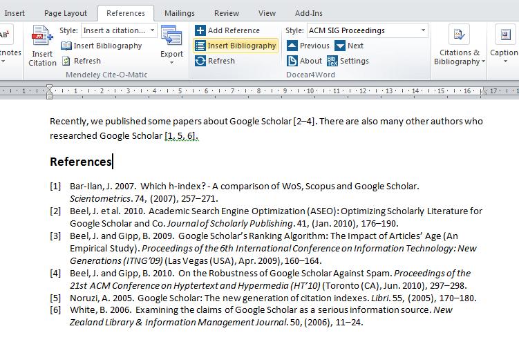 Insert a BibTeX based bibliography in Microsoft Word
